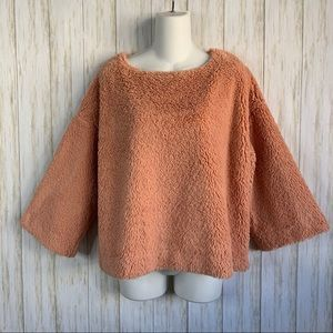 Madewell Terry Sweater Superfurry Top